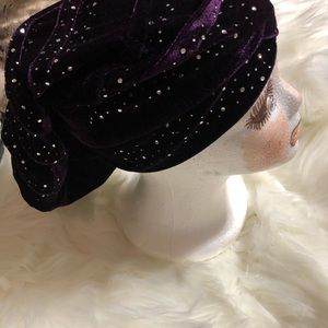 Women's Purple Bling Head wrap
